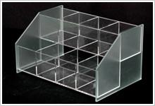 アクリル・スチールディスプレイ、木工製品制作例2