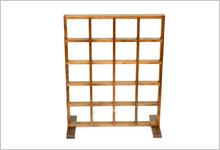 アクリル・スチールディスプレイ、木工製品制作例3