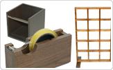 アクリル・スチールディスプレイ、木工製品2